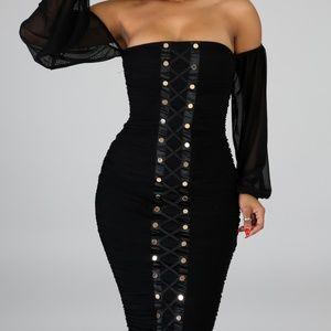 Dresses - Black Mesh Dress